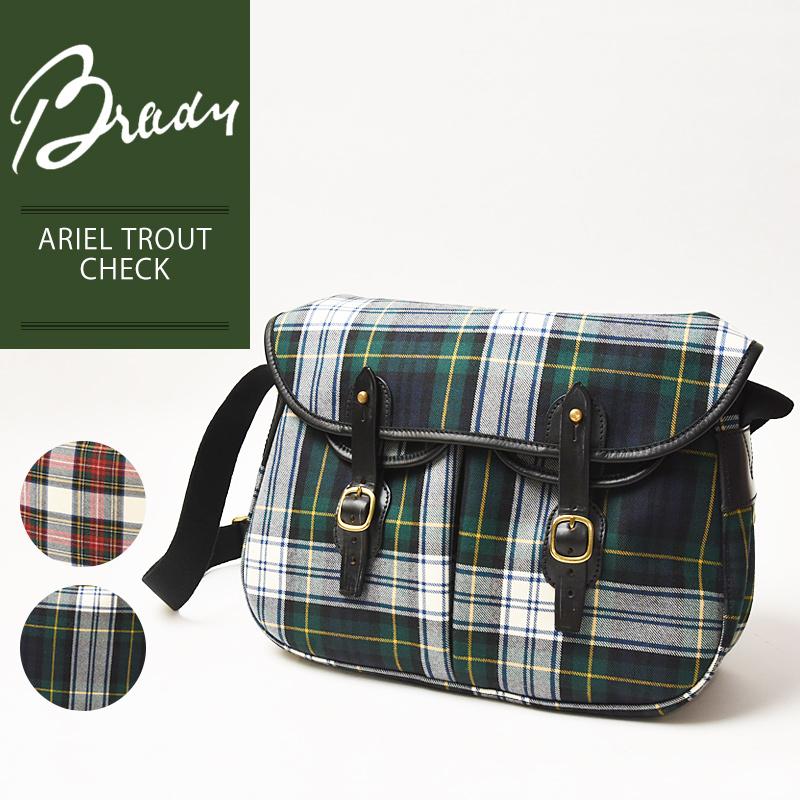 ラッピング無料 ブレディ BRADY アリエルトラウト ARIEL TROUT タータンチェック トートバッグ レディース メンズ ショルダーバッグ 軽量 キャンバス 布 ウール 大きめ 赤 緑 鞄 かばん バッグ
