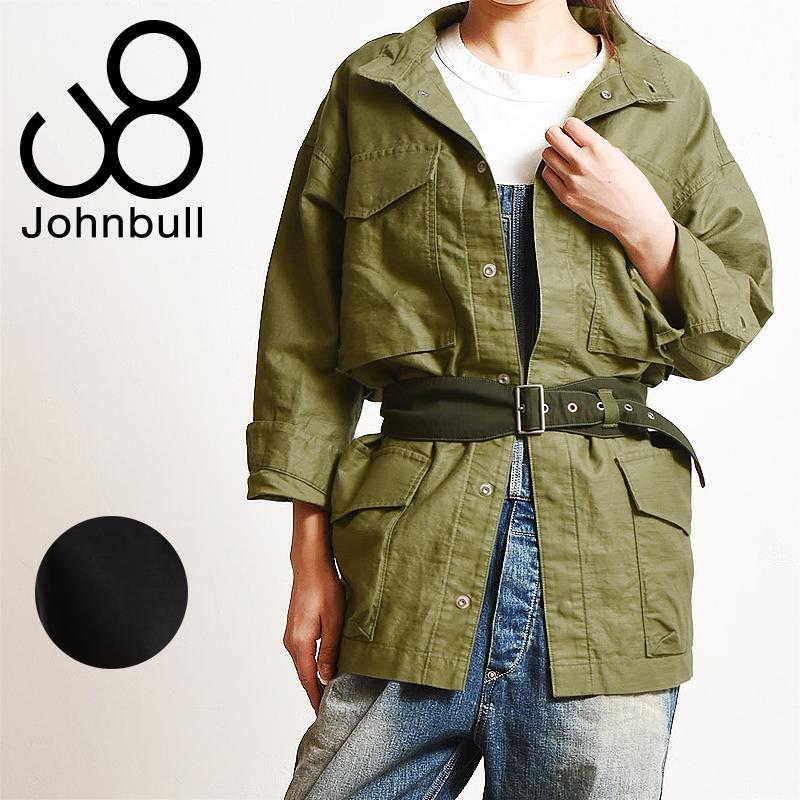 SALEセール10%OFF ジョンブル Johnbull ベルト付 ライト M-65 ジャケット AL892 レディース シャツ【gs2】