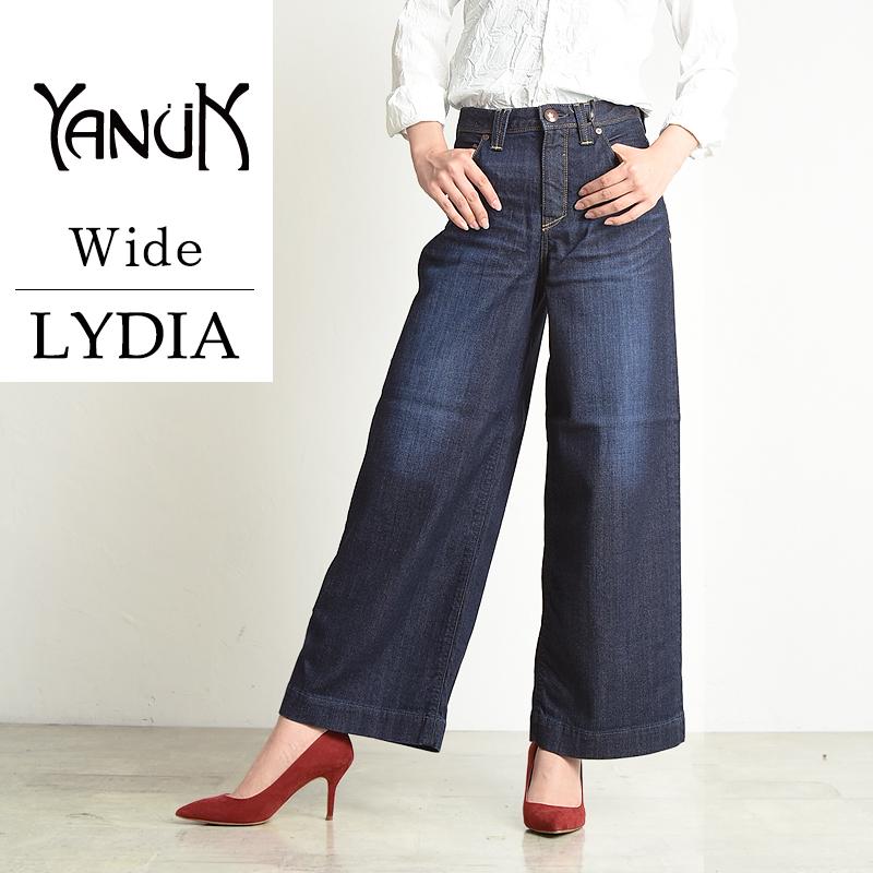裾上げ無料 ヤヌーク YANUK Lydia リディアワイド デニムパンツ ジーンズ レディース 57173020