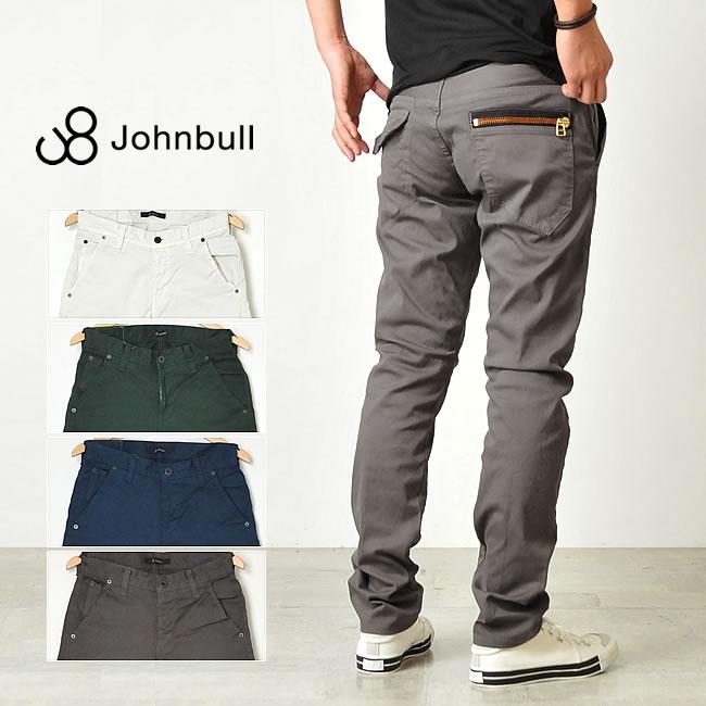 裾上げ無料 ジョンブル Johnbull **ストレッチ ジップスリムカラーパンツ 11929
