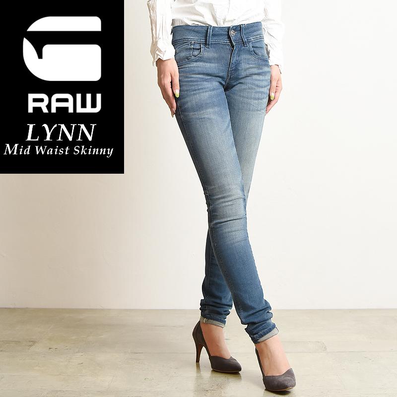 【お買い物マラソン期間限定ポイント2倍】SALEセール10%OFF 裾上げ無料 G-STAR RAW ジースターロウ Lynn スキニー ジーンズ レディース デニムパンツ 60885-6550 Lynn Mid-Waist Skinny Jeans【gs2】