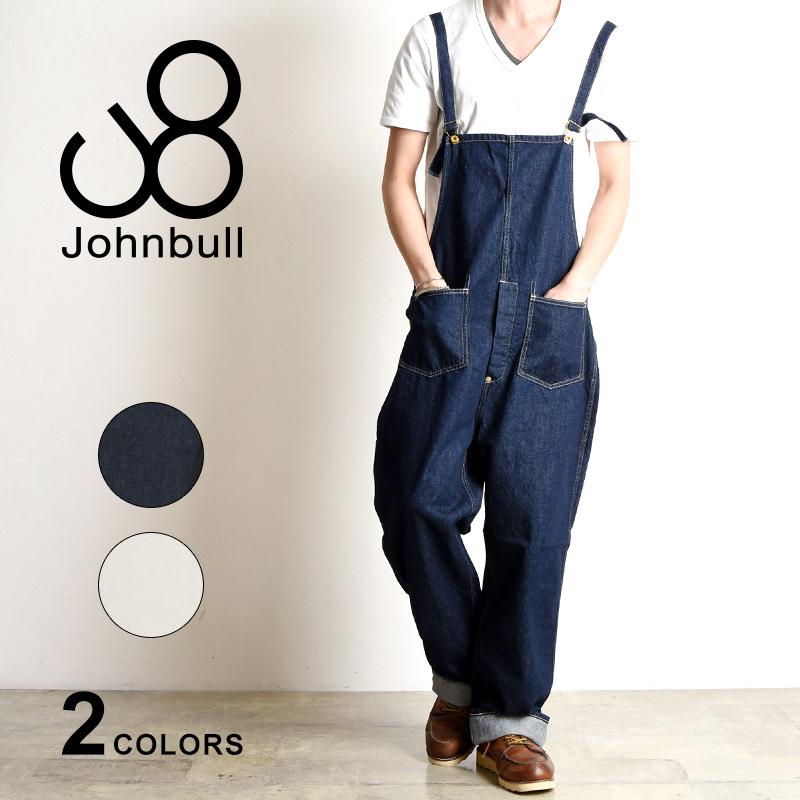 裾上げ無料 ジョンブル Johnbull メンズ デニム ワークオーバーオール 21050 サロペット つなぎ ジーンズ ジーパン