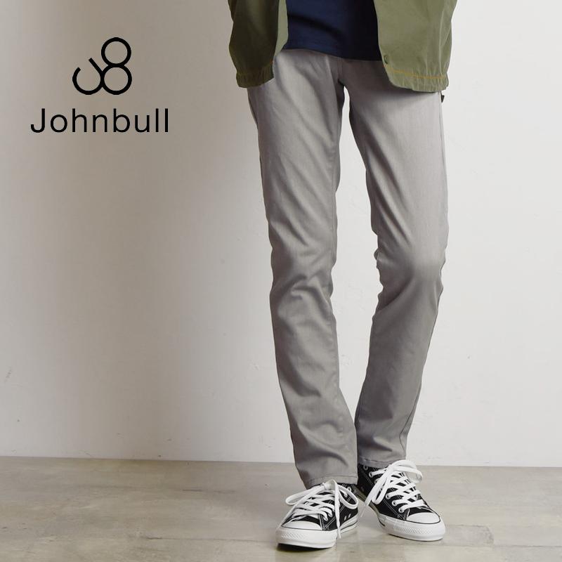 裾上げ無料 ジョンブル Johnbull メンズ スリムストレッチ ダブルクロスパンツ 21085