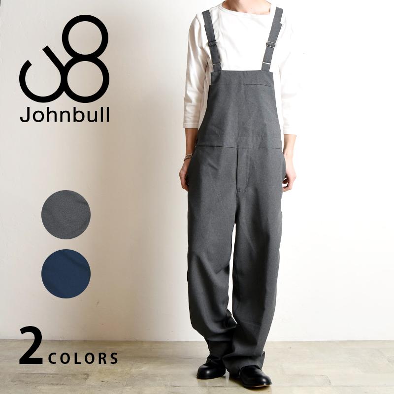 裾上げ無料 ジョンブル Johnbull メンズ ラインサロペット パンツ メンズ 21175