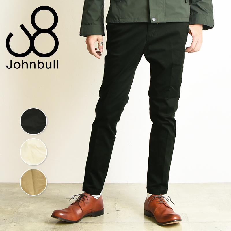裾上げ無料 ジョンブル Johnbull フレックス チノトラウザー スリム チノパンツ メンズ 21238