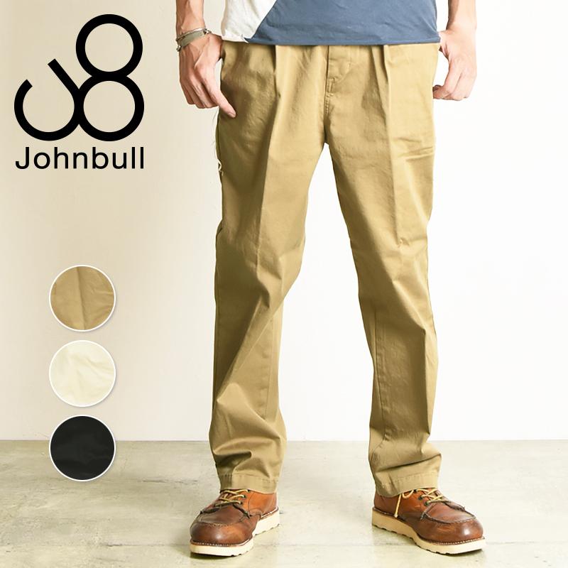 新作 裾上げ無料 ジョンブル Johnbull フレックス チノトラウザー ワイド チノパンツ メンズ 21239