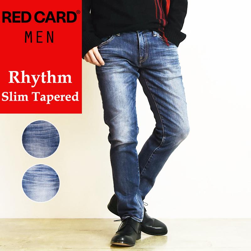 2020春夏新作 裾上げ無料 レッドカード RED CARD リズム Rhythm メンズ スリムテーパード デニムパンツ ジーンズ REDCARD 26862