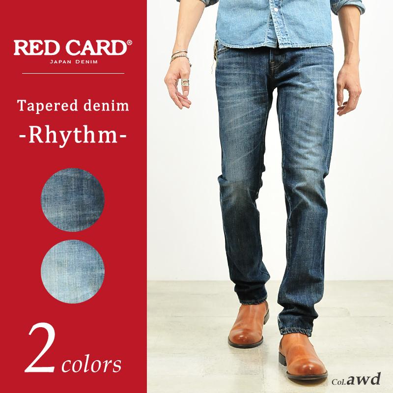 裾上げ無料 レッドカード RED CARD デニム スリムテーパード フィット デニムパンツ Rhythm メンズ 26878