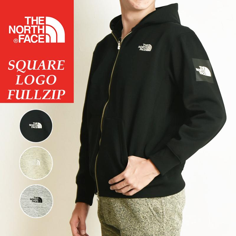 ノースフェイス THE NORTH FACE スクエアロゴフルジップ Square Logo FullZip 裏起毛 スウェット ジップアップパーカー メンズ レディース NT61836