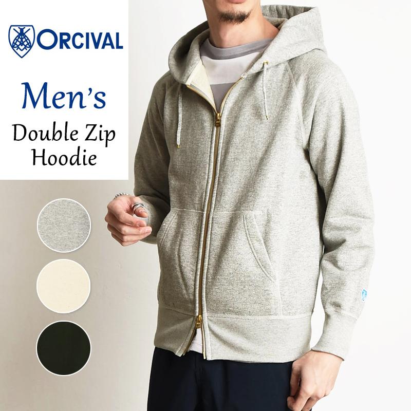 オーシバル オーチバル ORCIVAL メンズ フレンチテリー ダブルジップ パーカー スウェット RC-9007