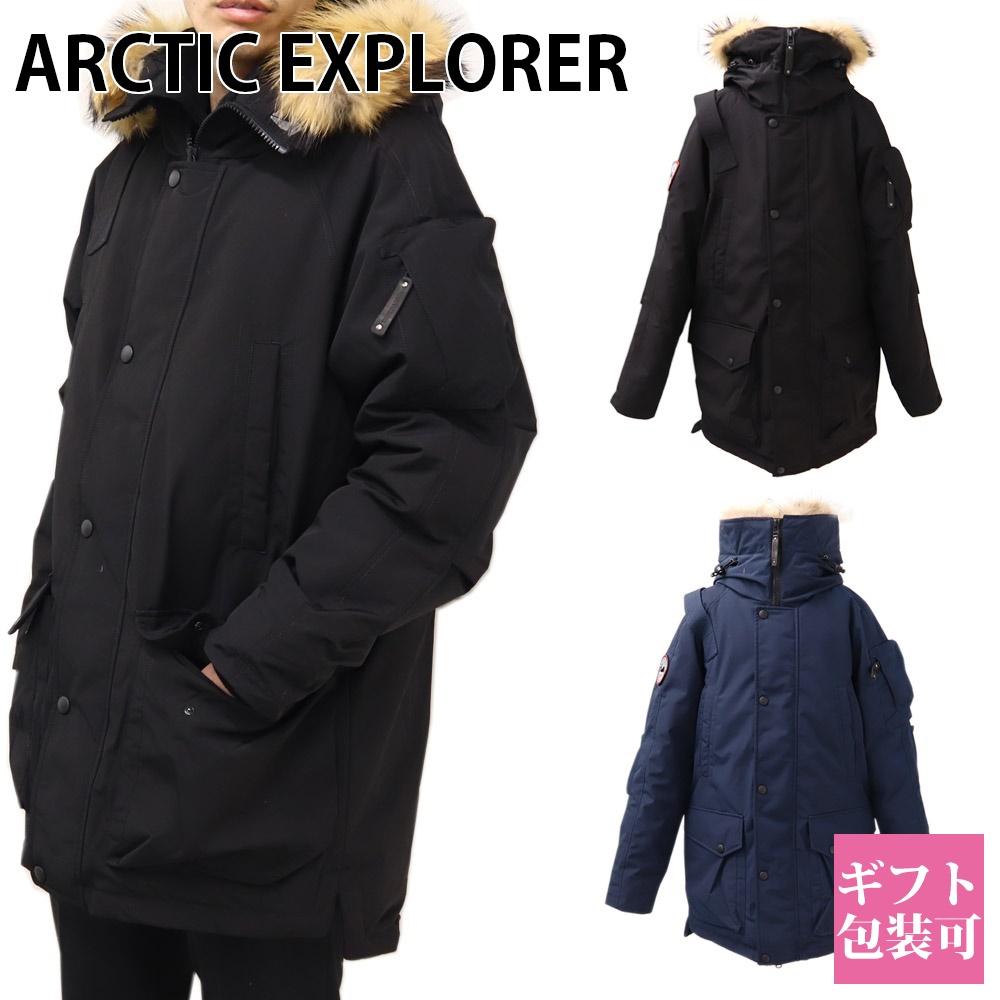 アークティックエクスプローラー ARCTIC EXPLORER メンズ ダウン ジャケット アウター ロゴ ワッペン フード パーカー MIR-1