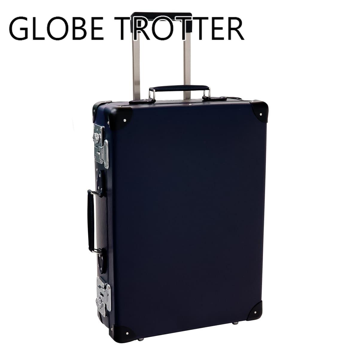 【即納】あす楽対応 グローブトロッター GLOBE-TROTTER スーツケース バッグ 鞄 かばん キャリーケース メンズ レディース 旅行かばん トローリーケース ORIGINAL 20インチ キャリーケース ネイビー×ブラック NAVY/BLACK GTORGNB20TC 正規品ブランド 新品 新作 2019年