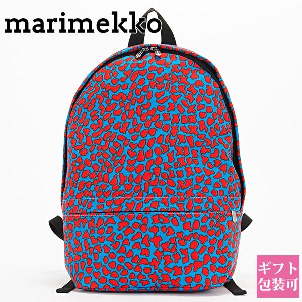 【後払い OK】マリメッコ marimekko リュックサック レディース メンズ リュック バックパック デイバッグ ENNI PITKA LKAVA BACKPACK ブルー/レッド 046024-530 ギフト