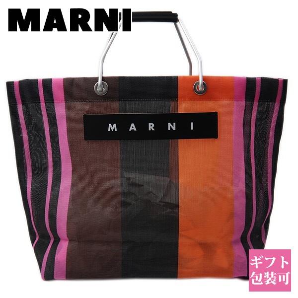 マルニ フラワー カフェ MARNI FLOWER CAFE バッグ レディース トートバッグ メッシュ ストライプ マルチピンク SHMHR08A01 TN296 STN99 ホワイトデー プレゼント