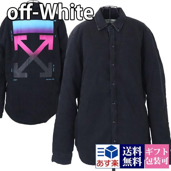 オフホワイト OFF-WHITE シャツ ジャケット メンズ シャツジャケット ブラック【OFF WHITE 大きいサイズ 男性 DENIM PUFFER SHIRT ヴァージルアブロー 新品 正規品 セール VIRGIL ABLOH】 ギフト