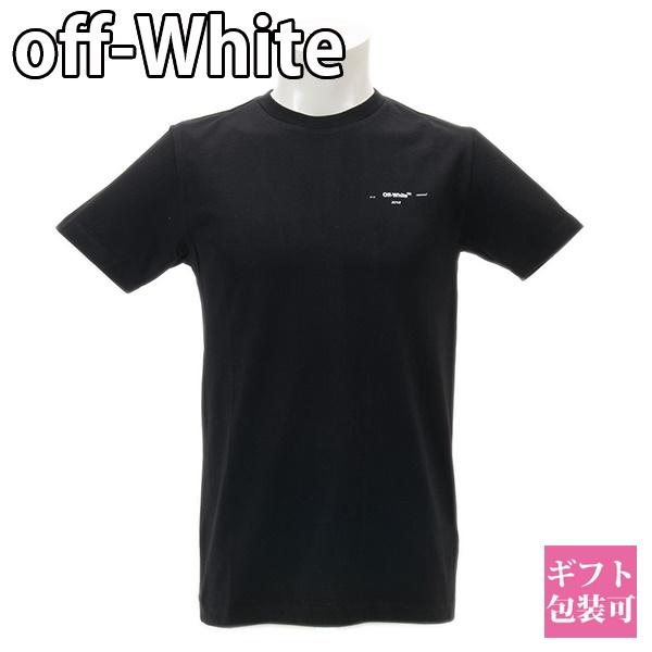 オフホワイト OFF-WHITE シャツ Tシャツ メンズ 半袖 ブラック OMAA027E191850191001 BLACK WHIT ホワイトデー プレゼント