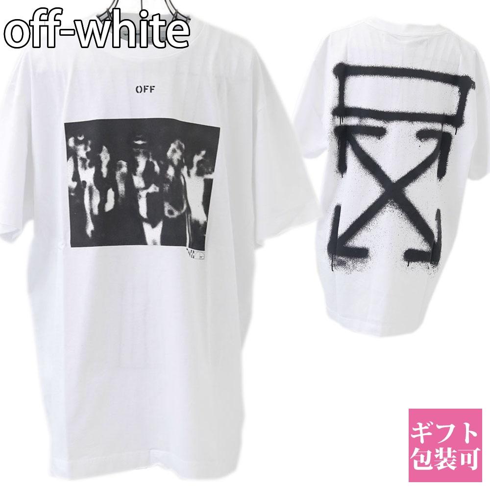 オフホワイト off-white シャツ メンズ レディース 半袖 Tシャツ ホワイト OMAA038R201850150110 SPRAY PAINTING S/S OVER TEE WHITE BLACK