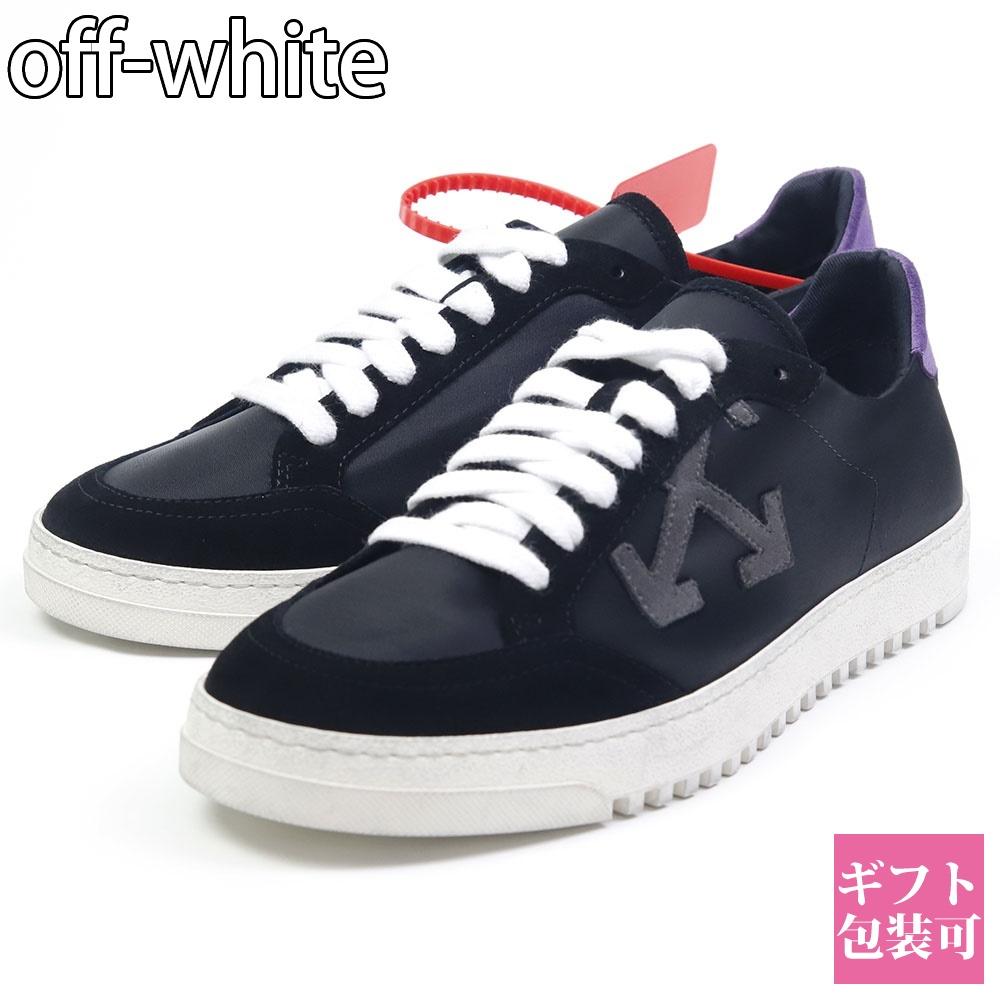 オフホワイト off-white スニーカー 靴 ビンテージ加工 ブラック/ヴァイオレット OMIA042R20D390541029 2.0 SNEAKER BLACK VIOLET
