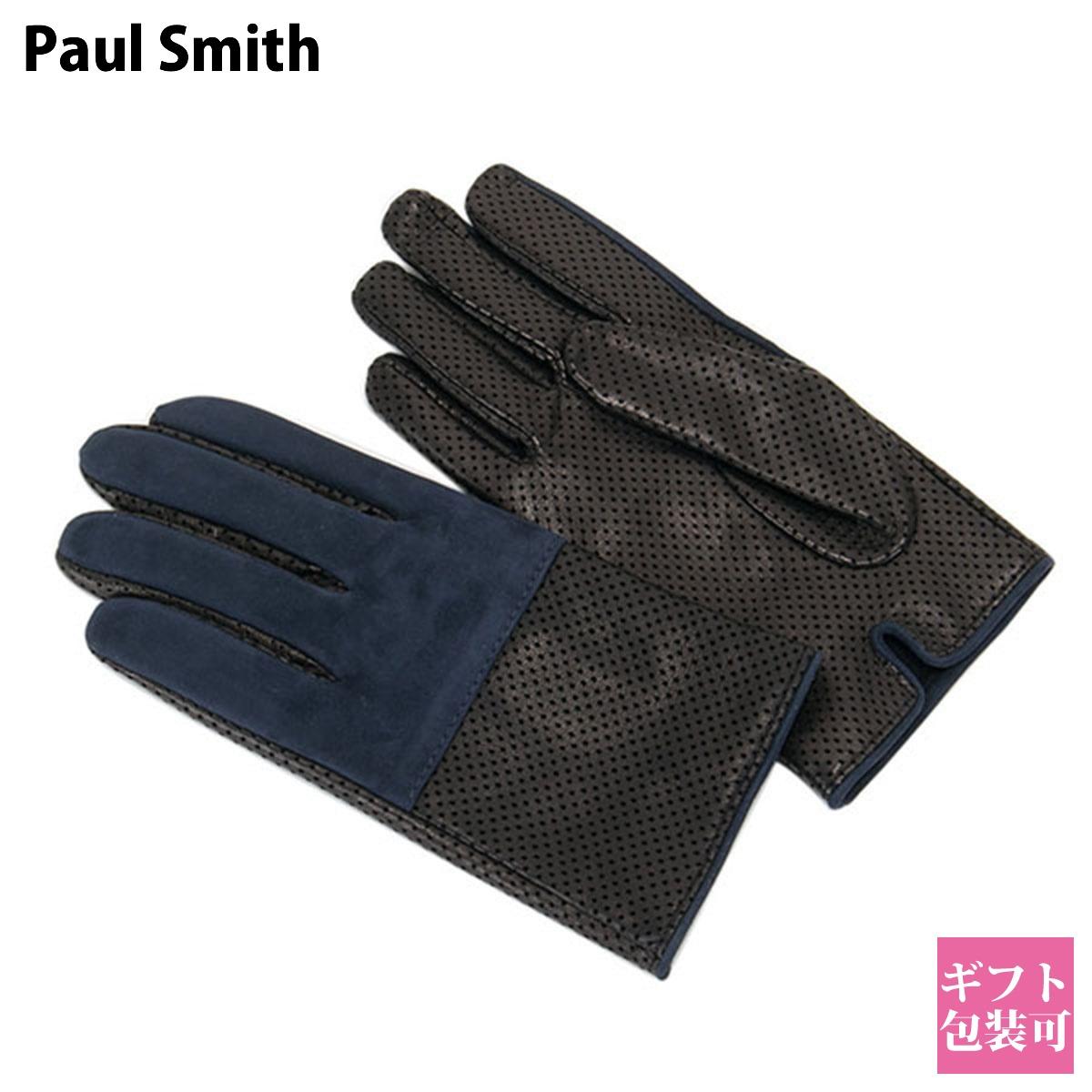 ポールスミス Paul Smith グローブ メンズ 手袋 ブラック ARXD 199D G145 N 正規品 シンプル ブランド 新品 新作 2020年 ギフト ホワイトデー プレゼント