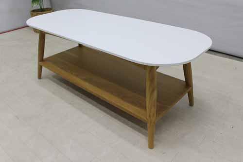 アウトレット家具 Baque de Loop コーヒーテーブル ローテーブル ctb-ak-h45 オークウッド インテリア ブラウン 茶 ホワイト 白