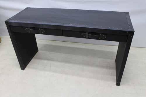 ●商品名:【新品】 Baque de Loop デスク チェア セット dsk-eu-w145pu インテリア 合皮レザー ブラック 黒