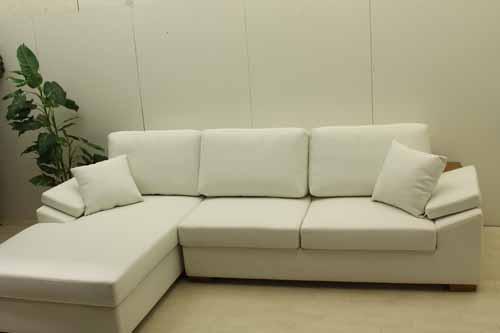 アウトレット家具 Baque de Loop カウチソファー sf003-cc-wh 合皮レザー ホワイト 白 WHITE ラスト1点のみ