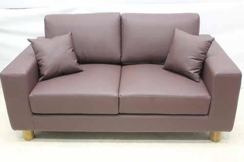 ●商品名:【アウトレット】 Baque de Loop 二人掛けソファー sf005-2p-bur 合皮レザー バーガンディー ワインレッド 赤紫