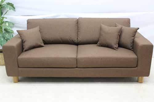 アウトレット家具 Baque de Loop 三人掛けソファー sf005-3p-br-f ファブリック 布 ブラウン 茶