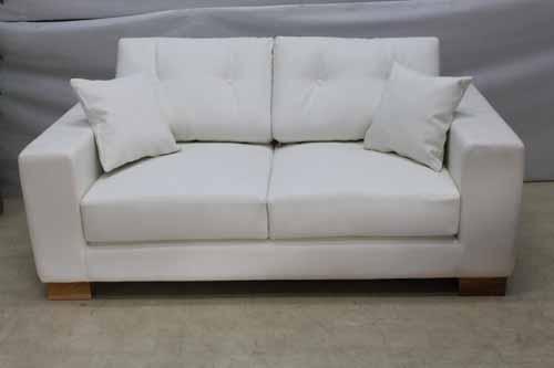 ●商品名:【アウトレット】 Baque de Loop 二人掛けソファー sf006-2p-wh 合皮レザー ホワイト 白