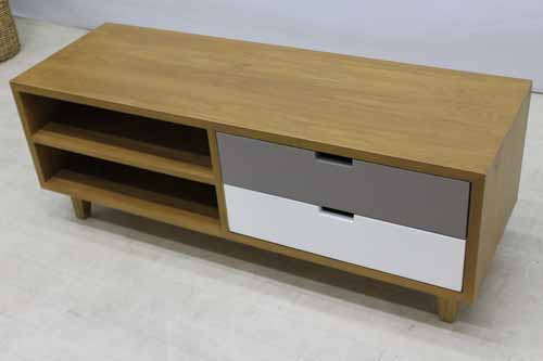 アウトレット家具 Baque de Loop テレビボード テレビ台 tvb-ak-w120 オークウッド ブラウン 茶