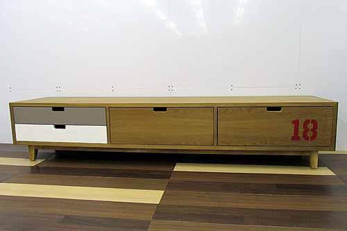 アウトレット家具 Baque de Loop テレビボード テレビ台 tvb-ak-w200 オークウッド ブラウン 茶
