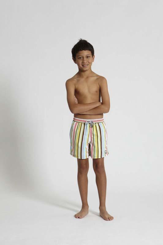 クリックポストで発送 親子ペアデザイン有り Tom 正規販売店 Teddy Stripe Multi ストライプ マルチ トム テディー キッズ 海パン プール 男児用 ハーフパンツ サーフパンツ 国内送料無料 男の子 オーストラリアンスイムウェア 水着 サイズ 海水浴