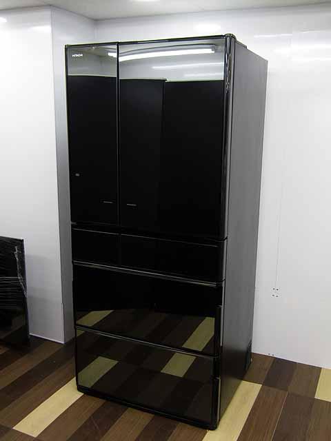 【送料別途見積】【中古】【冷蔵庫】日立 冷凍冷蔵庫 670L 6ドア 真空チルド R-X6700E-X クリスタルミラー 2015年製