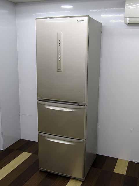 【中古 冷蔵庫】【送料別】パナソニック 冷凍冷蔵庫 エコナビ NR-C37FM-N 365L 3ドア シルキーゴールド 2017年製 【L】 中古冷蔵庫 家電 キッチン家電 4~6人用 大型 激安 大家族 ファミリー 自動製氷機能