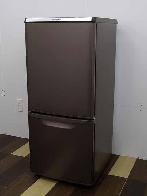 【あす楽】【中古 冷蔵庫】パナソニック 冷凍冷蔵庫 NR-B149W-T 138L 2ドア マホガニーブラウン 2017年製 【◆S◆】 中古冷蔵庫 家電 キッチン家電 1~2人用 小型 激安 1人暮らし