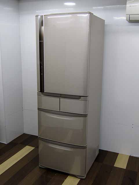 【中古】【冷蔵庫】 日立 R-K42F 401L 5ドア 右開き まんなか冷凍室 ソフトブラウン 2015年製 【L】 中古冷蔵庫 家電 キッチン家電 4~6人用 大型 激安 大家族 ファミリー