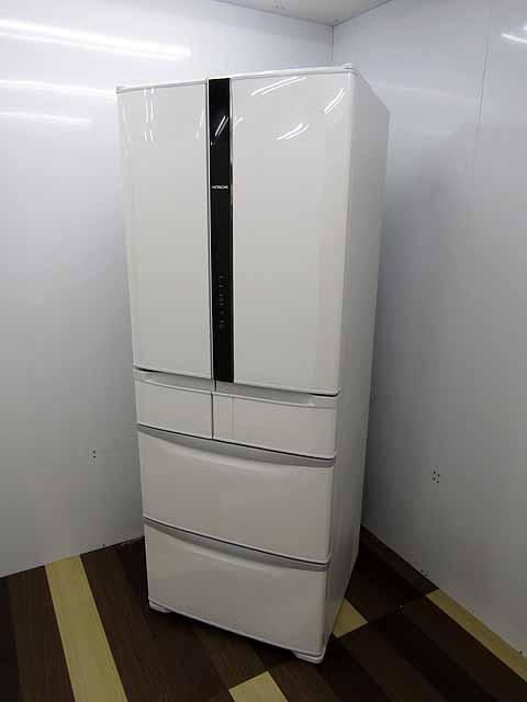 【あす楽】【中古】【冷蔵庫】日立 475L 6ドア 真空チルド 自動製氷 フレンチドア R-FR48M5 パールホワイト 2016年製 【L】 中古冷蔵庫 家電 キッチン家電 4~6人用 大型 激安 大家族 ファミリー
