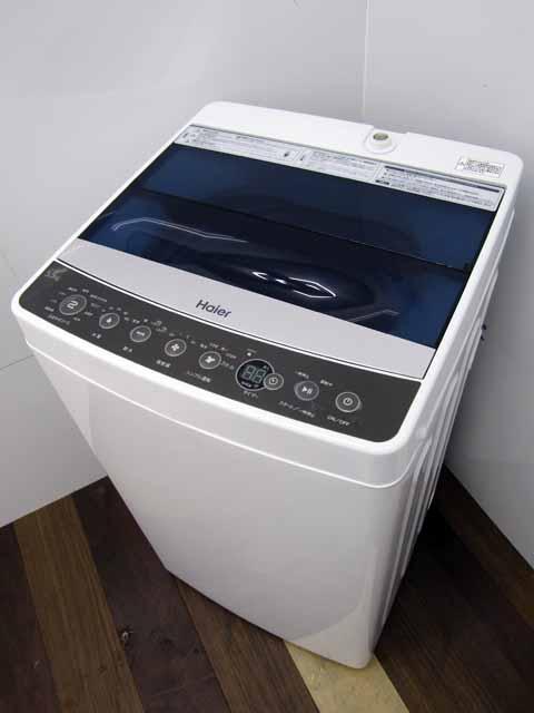 【あす楽】【中古 洗濯機】ハイアール JW-C55A 5.5kg ブラック 2018年製 家電 1人暮らし 単身者向け サイズ 1~2人用 小型 激安 価格 安い おすすめ