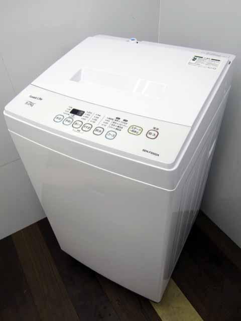 掃除機おまけ付き 中古洗濯機 評価 国内メーカー FIFTY 洗濯5.0kg forestLife 5%OFF ホワイト 2019年製 状態:A 中古 洗濯機 フィフティー SEN-FS502A 安い 激安 価格 家電 おすすめ バリュー商品 単身者向け 1人暮らし サイズ 小型 1~2人用