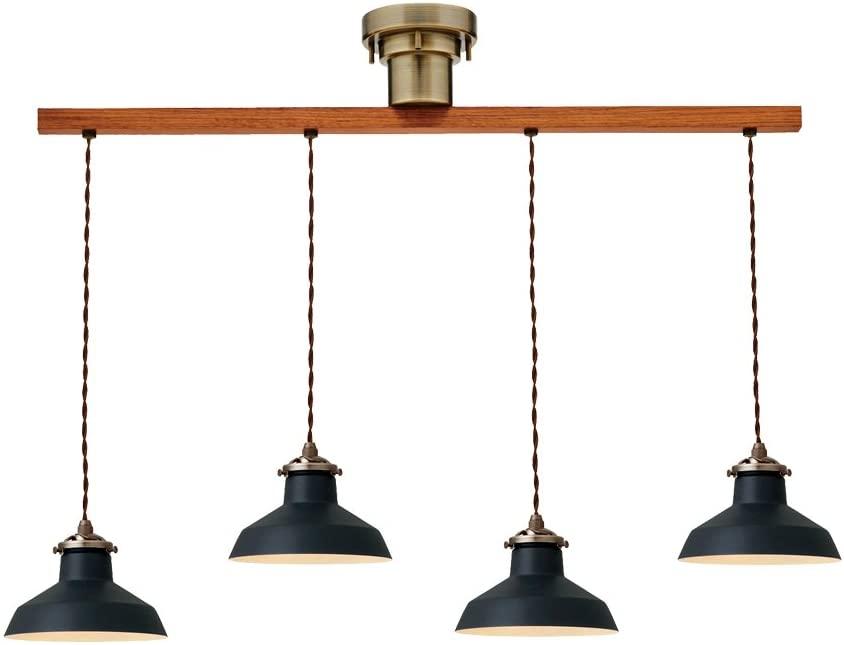 【あす楽】【新品】【未使用】【照明】【ペンダントライト】インターフォルム 電球 4灯 6-8畳用 ブラック 状態:AA おすすめ 価格 安い