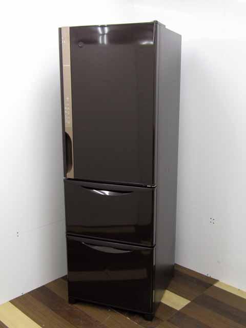 【中古】【冷蔵庫】 日立 R-K38JV 375L 3ドア 右開き まんなか野菜 うるおいチルドルーム ダークブラウン 2019年製 300リットル~ 2~3人向け 家電 キッチン家電 中型 価格 安い おすすめ 人気 激安 キッチン