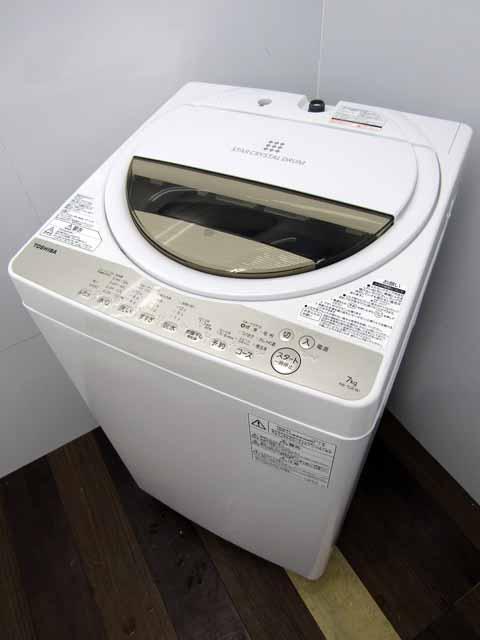 【あす楽】【中古】【洗濯機】東芝 AW-7G8 7.0キロ グランホワイト 2019年製 家電 1人暮らし 単身者向け サイズ 1~2人用 小型 激安 価格 安い おすすめ