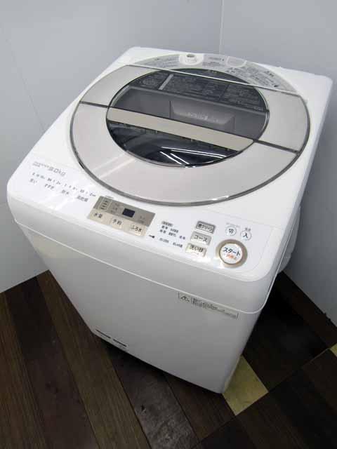 【あす楽】【中古】【洗濯機】シャープ 全自動洗濯機 ES-GV9A-N 洗濯9.0kg ゴールド 2017年製 家電 ファミリー向け サイズ 大型 激安 価格 安い おすすめ