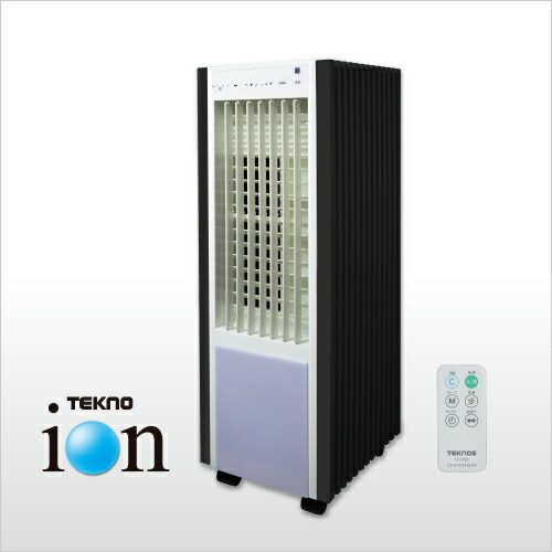 未使用再生品 保証付き 冷風扇 リモコン 新作通販 TEKNOS あす楽 送料無料 扇風機 テクノス TCI-050 安い ホワイトxブラック おすすめ テクノイオン搭載 冷風扇風機 おしゃれ 静か 購買