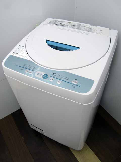 【あす楽】【中古 洗濯機】 シャープ ES-GL45 ホワイト系 4.5kg 2014年製 家電 1人暮らし 単身者向け サイズ 1人用 小型 激安 価格 安い おすすめ