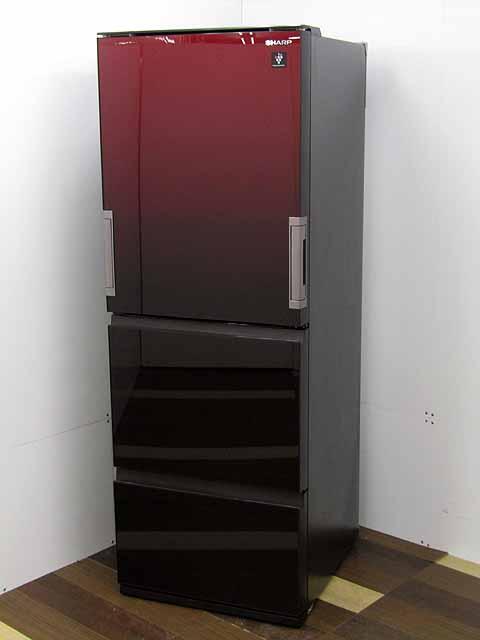 中古 冷蔵庫 SHARP 3ドア 350L ストア SJ-GW35F-R プラズマクラスター どっちもドア ガラスドア グラデーションレッド シャープ ブランド品 冷凍冷蔵庫 激安 安い おすすめ 家電 2~3人向け キッチン家電 中型 キッチン 価格 300リットル~ 人気