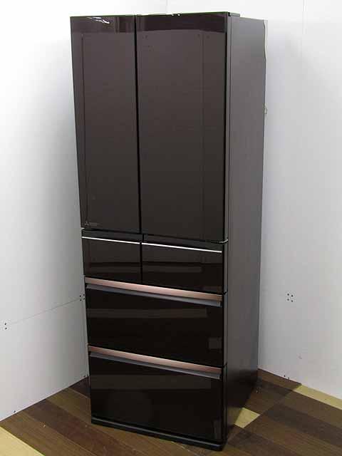 中古 冷蔵庫 MITSUBISHI 6ドア 470L WXシリーズ フレンチドア 爆売り 操作 ガラスドア クリスタルブラウン 売却 MR-WX47D-BR タッチパネル 三菱