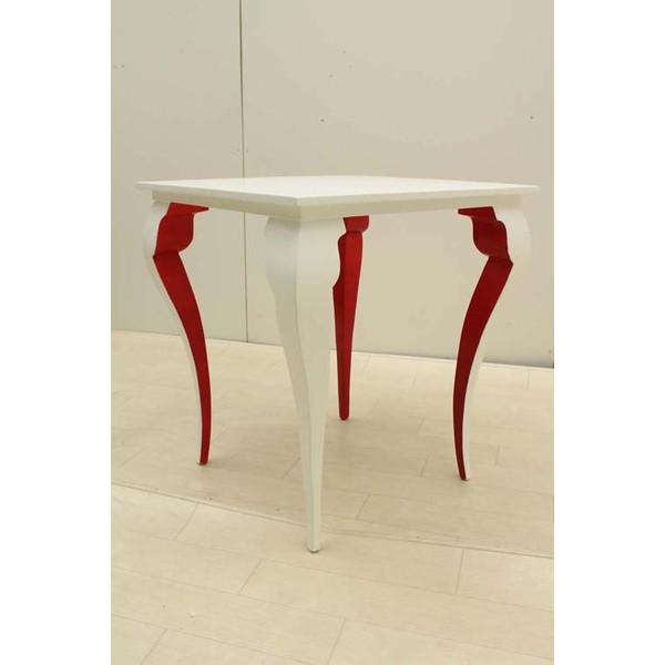 【当店オリジナル商品】【新品】【未使用品】サイドテーブル スツール レッド ホワイト オリジナルブランド