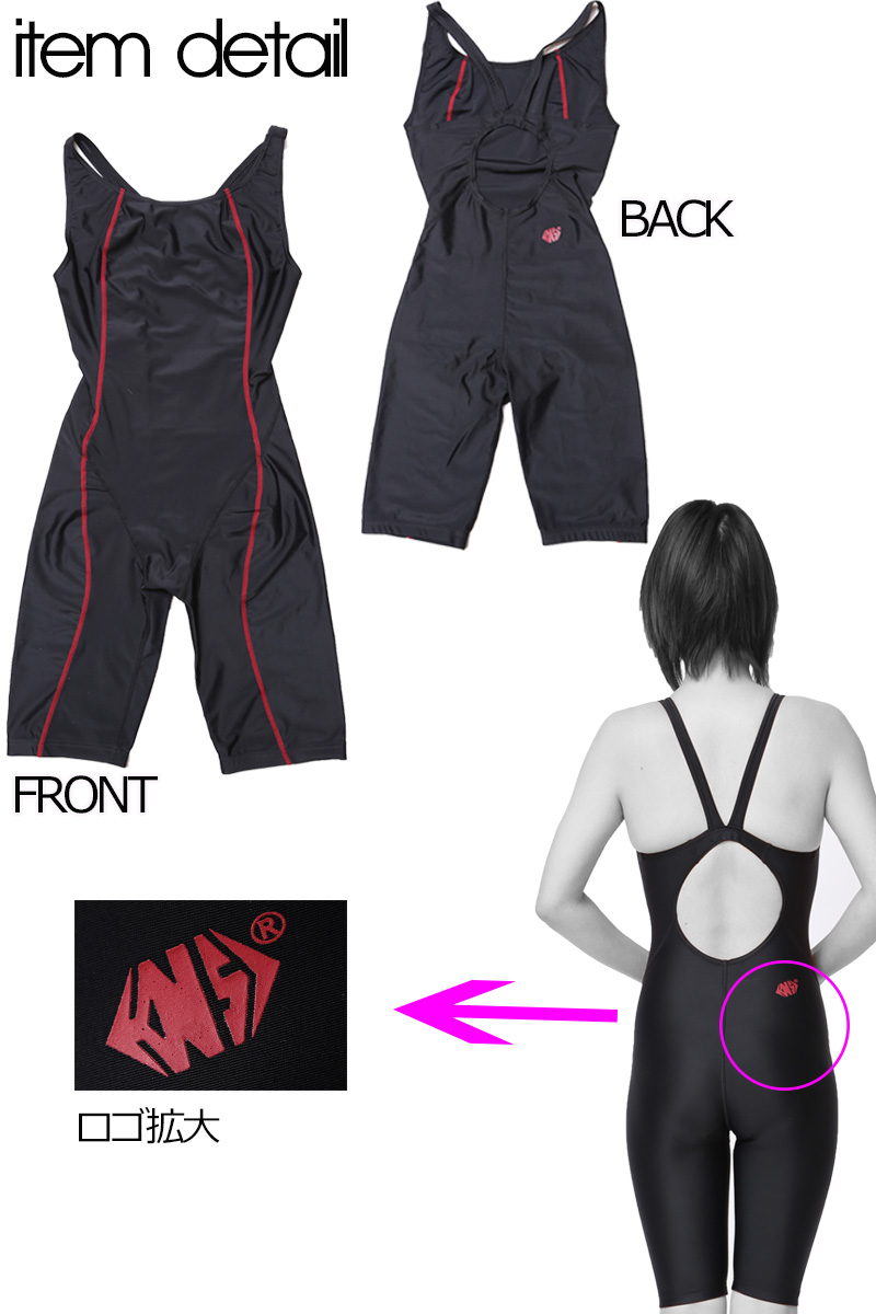 One-Piece Competition Swimsuits Womens Swimming race fitness practice swimwear Lycra CHICKBOND From Japan Red Gray