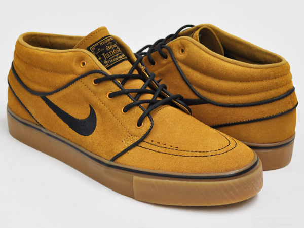 los angeles fa7a3 d13a8 gettry: NIKE ZOOM STEFAN JANOSKI MID WHEAT / BLACK - GUM LIGHT BROWN ...